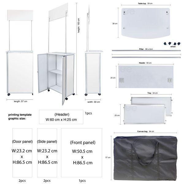 Aluminium Sampling Slim Booth Size