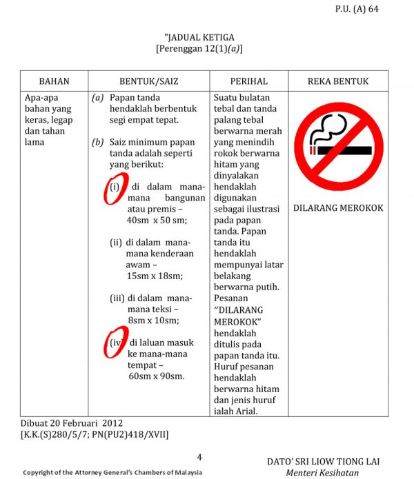 Control of Tobacco Product(Amendment)Regulations 2012 Pg4