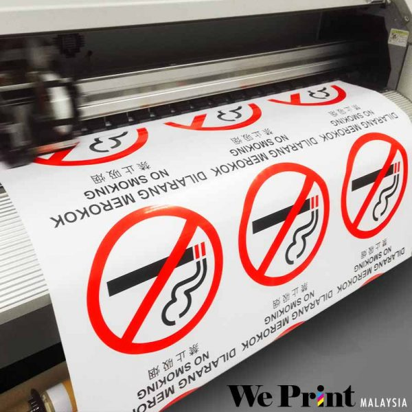 No Smoking Sticker Printing