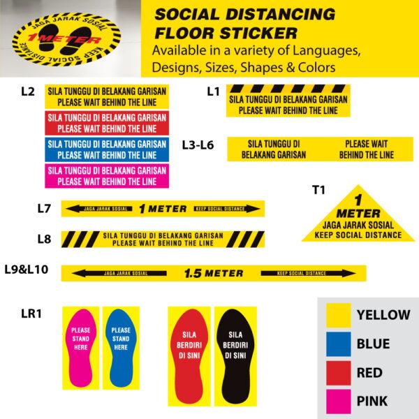 Social Distance Sign Design